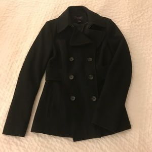 Women's Black Peacoat
